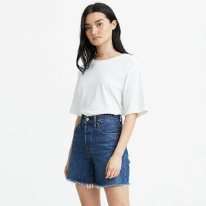 Levi's 501 Mid Thigh High Waisted Jean Shorts 27